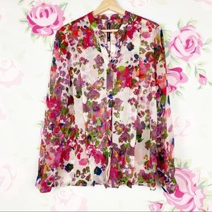 W11 by Walter Baker Willie Floral Print Blouse M